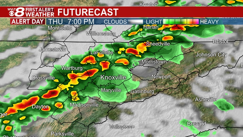 Tracking stronger storms for later today.