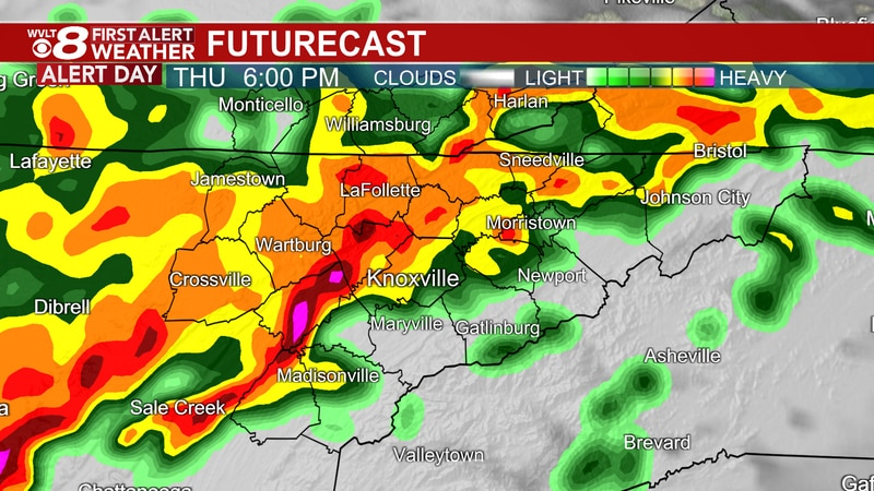 Batches of storms at times Thursday.