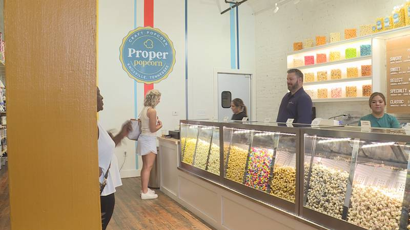 Market Square has a host of new businesses including Proper popcorn.