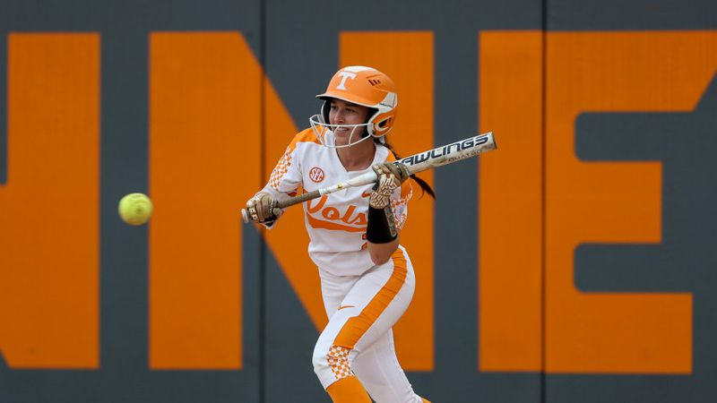 KNOXVILLE, TN - MARCH 24, 2017 - Outfielder Jenna Holcomb #2 of the Tennessee Volunteers during...