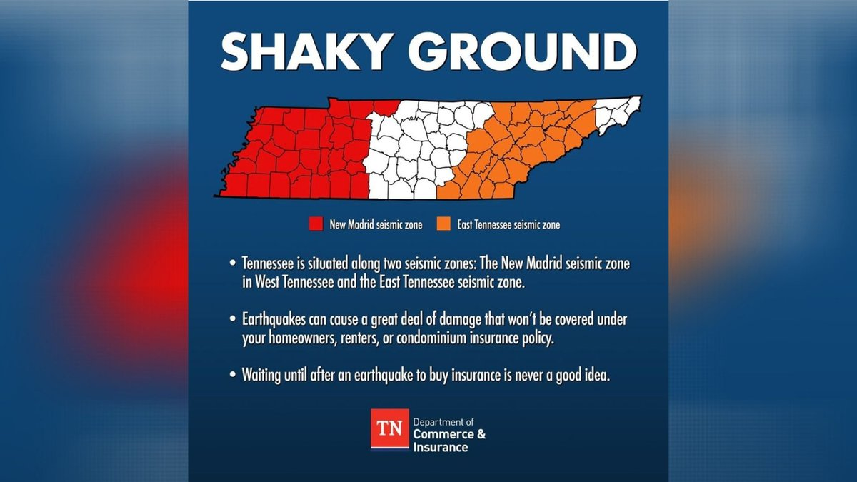 Tennessee sits on two fault lines.