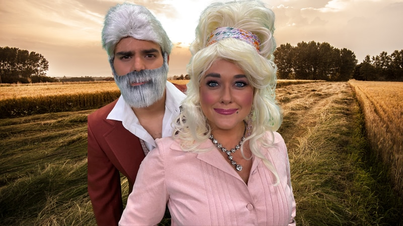 Casey Wheeless and Harry Sullivan are dressing up as Dolly Parton and Kenny Rogers to raise...