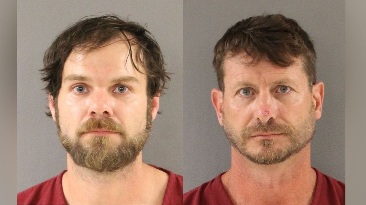 Bradford Thacker and John Maxey were arrested after officers had to rescue them from an island....