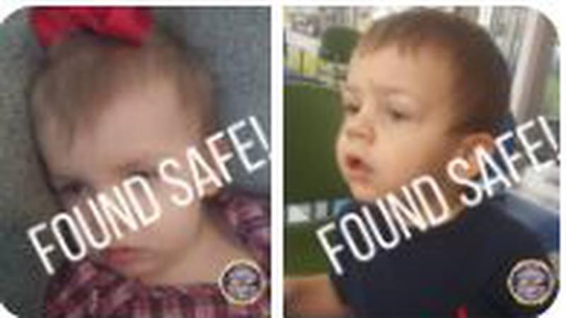 Todlers found safe after TBI issues Endangered Child Alert