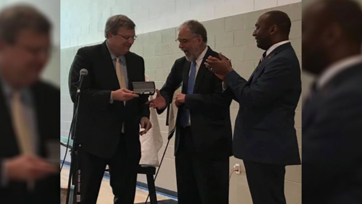 (left to right) Memphis Mayor Jim Strickland, Rev. Dr. Steve Montgomery, Shelby County Mayor...