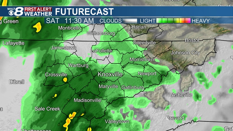 Rain and storms for Saturday.