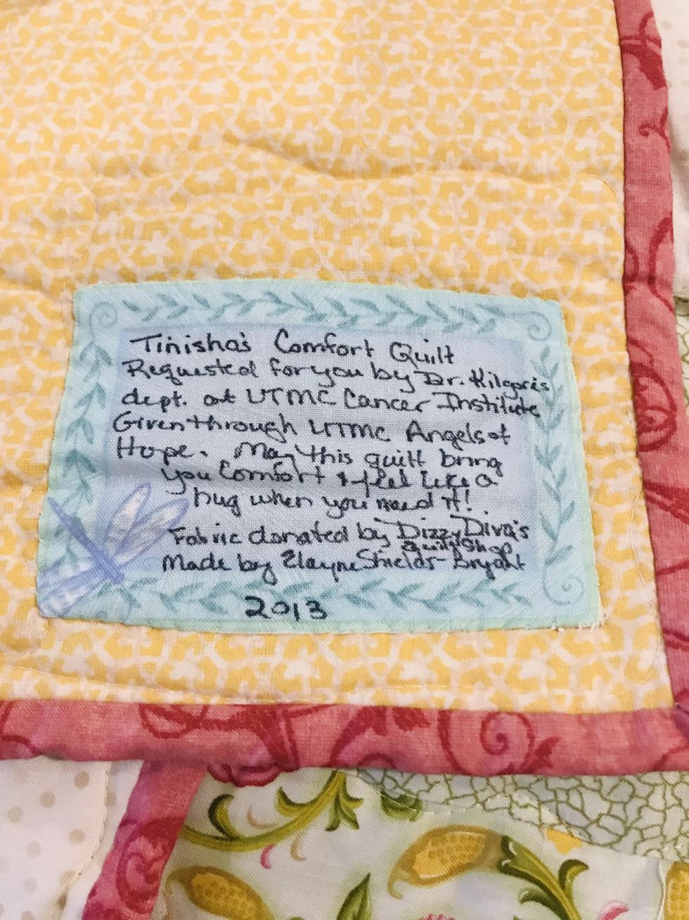 Quilt gifted to UTMC cervical cancer patients