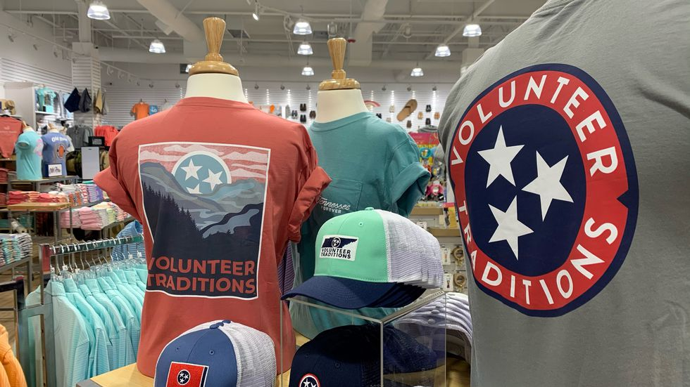 A unique variety of shirts representing the Volunteer State are available at Palmetto Moon.
