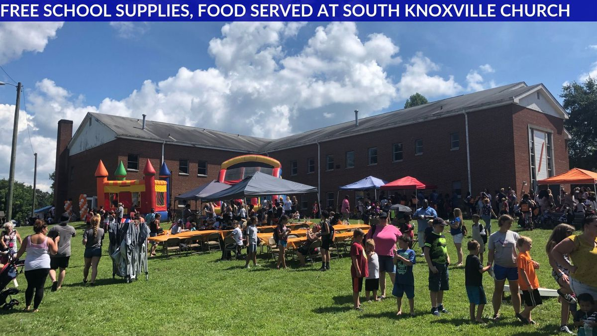 Organizers say many people showed up to Forward Church's annual back-to-school drive Sunday.