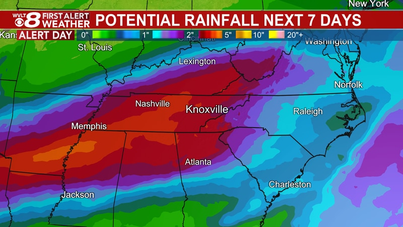Rain soaking the region, setting the stage for flooding risks.