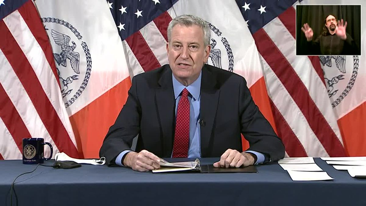 New York City has canceled contracts with the Trump Organization, and Mayor Bill De Blasio said...