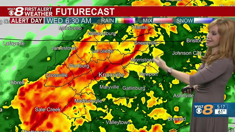 Flash flooding a concern with downpours & storms, FIRST ALERT today