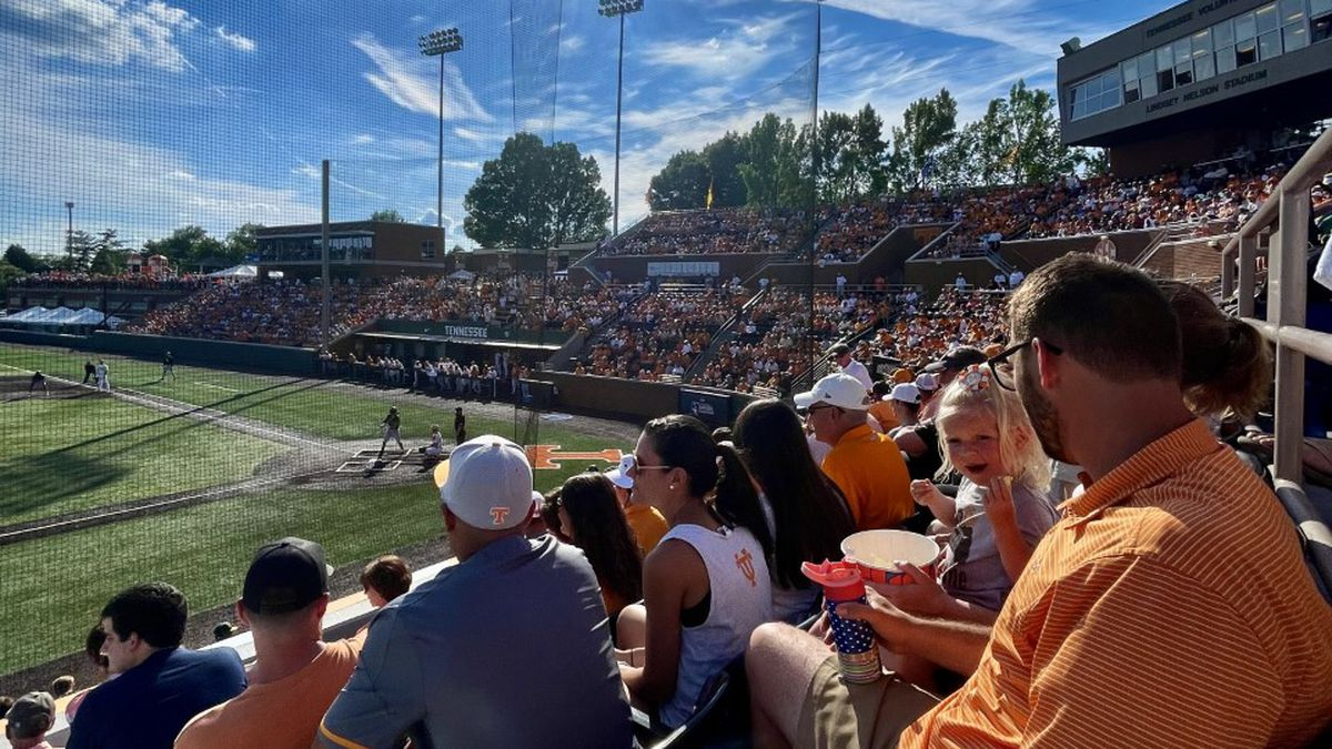 Fans at Knoxville Regional inside Lindsey nelson Stadium