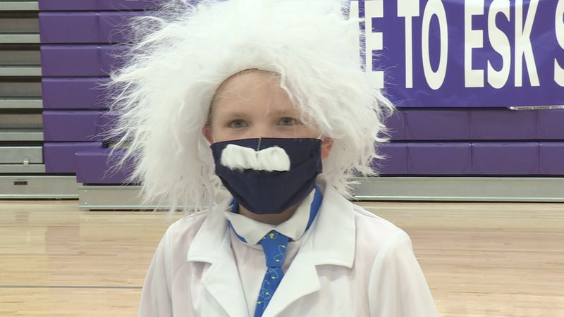 ESK student dressed as Albert Einstein