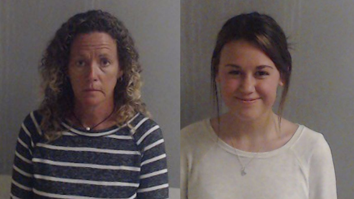 Emily Rose Grover, pictured right, was 17 when she was arrested. She turned 18 in April, and...