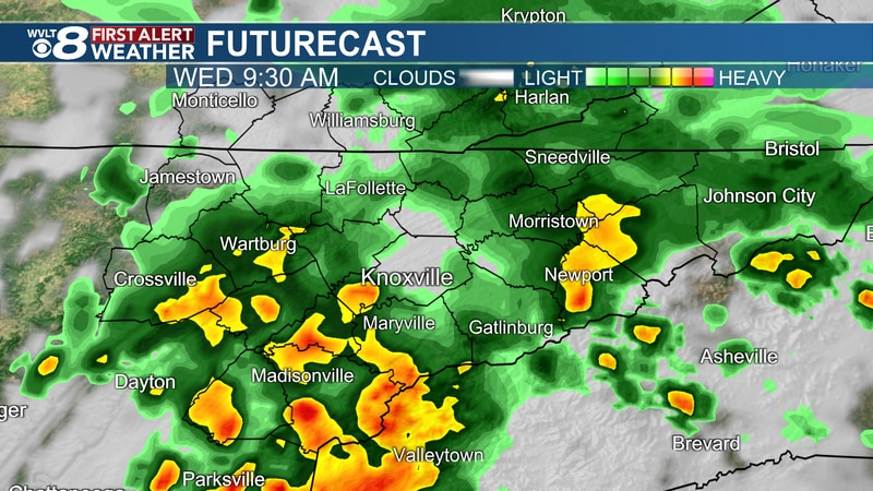 Soggy weather likely Wednesday