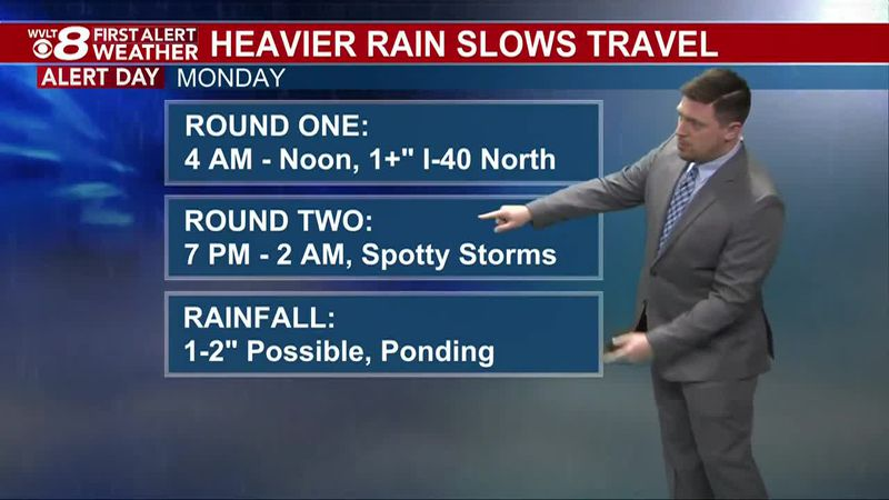 First Alert Weather Day Monday for heavy rain