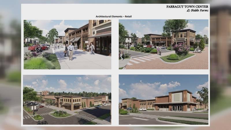 Developer releases plans for Farragut Town Center