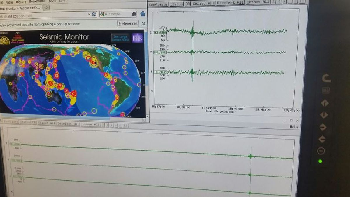 Seismograph records 3.0 magnitude earthquake in Tazewell on July 17 / Source: Benjamin Vanada