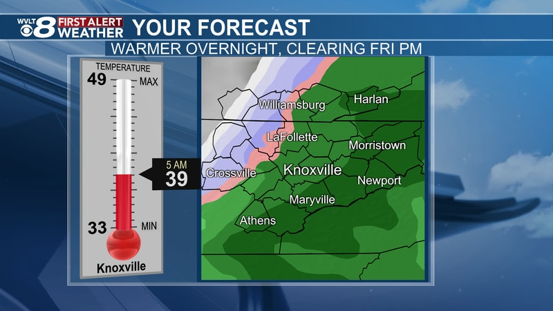 Tracking wind, rain, to some snow on WVLT News.