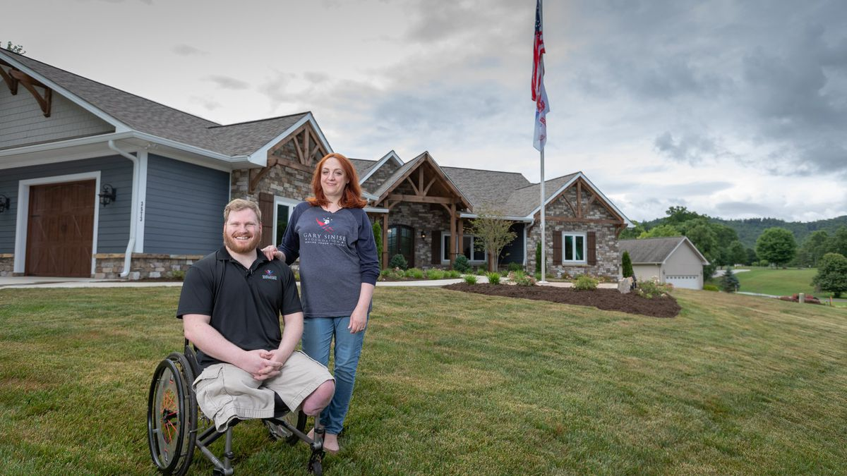 The Gary Sinise Foundation provides a mortgage-free home to Purple Heart recipient with support...