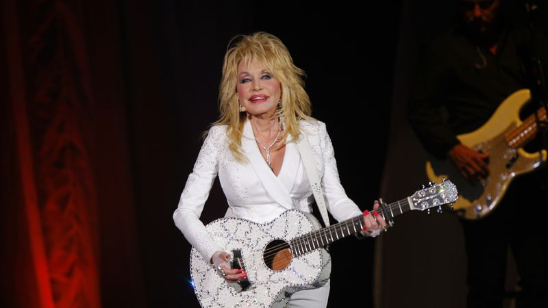 FILE - In this July 31, 2015 file photo, Dolly Parton performs in concert at the Ryman...