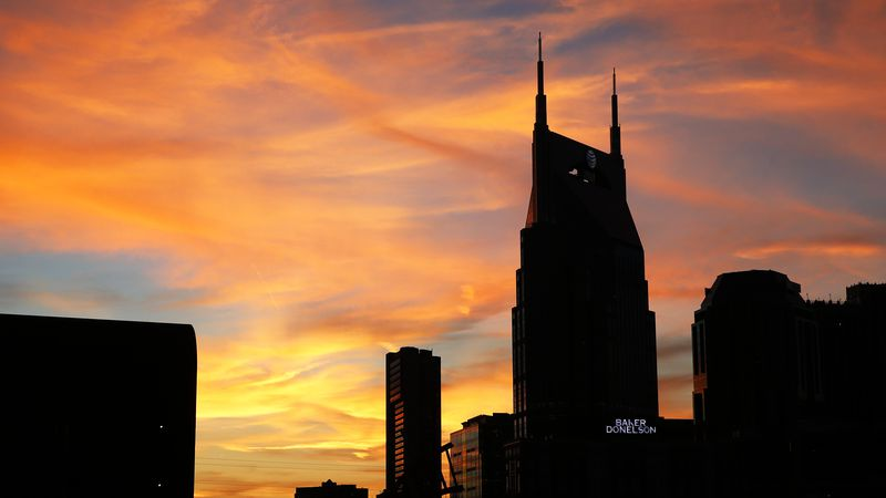The Nashville, Tenn. skyline is seen Thursday, Nov. 14, 2013. (AP Photo/Joe Howell)