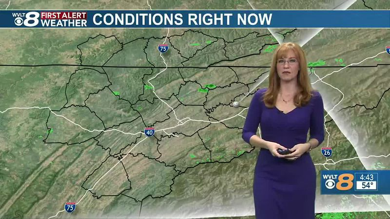Back to sun today then waves of rain lead to a WVLT First Alert