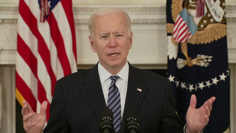 President Joe Biden announced every adult in the country will be eligible to be vaccinated by...