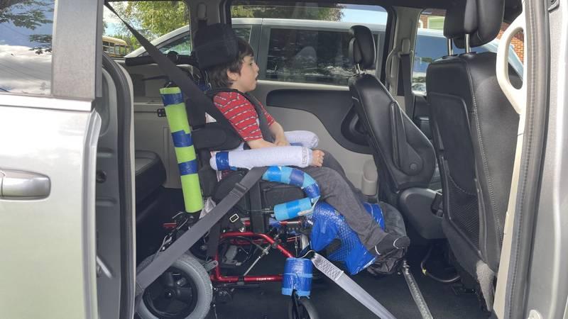 Xander Linkous got his handicap accessible van after his older sister started a fundraiser.