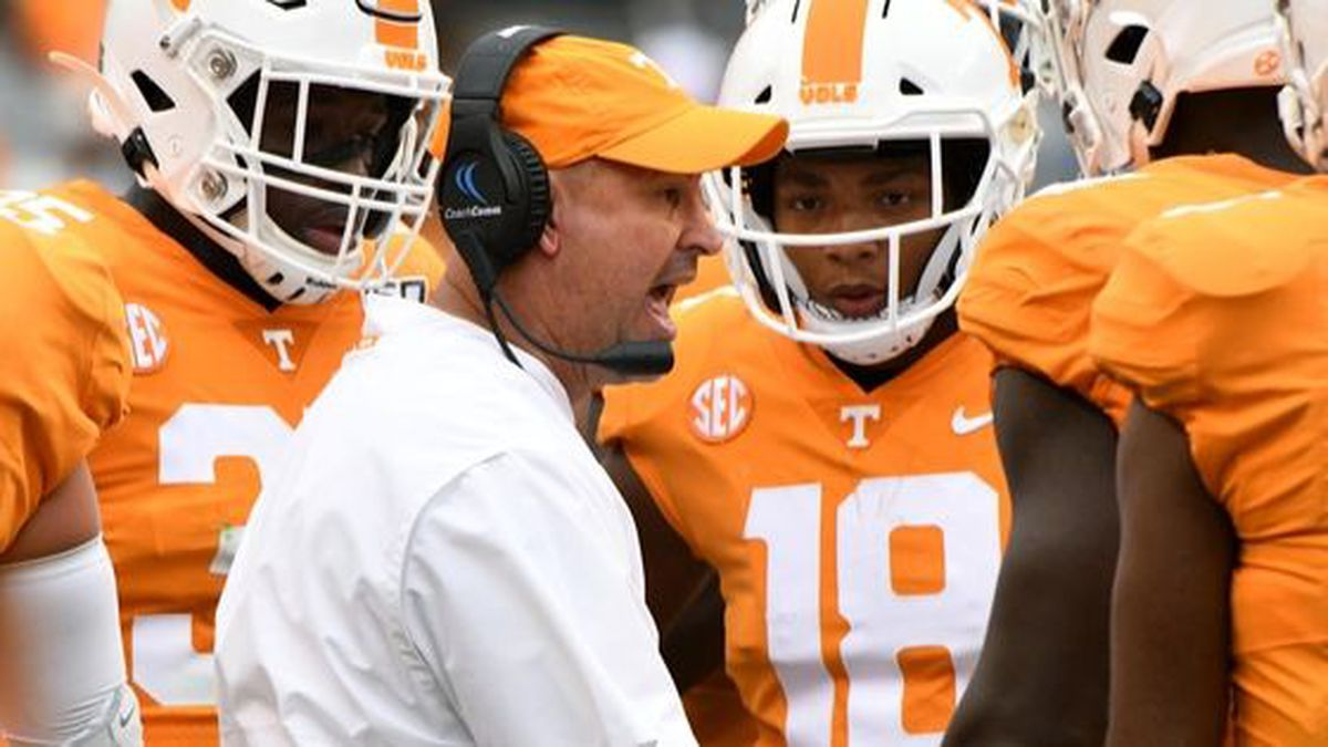 Tennessee head coach Jeremy Pruitt during first half action against Mississippi State Saturday, Oct. 12, 2019. Michael Patrick/WVLT