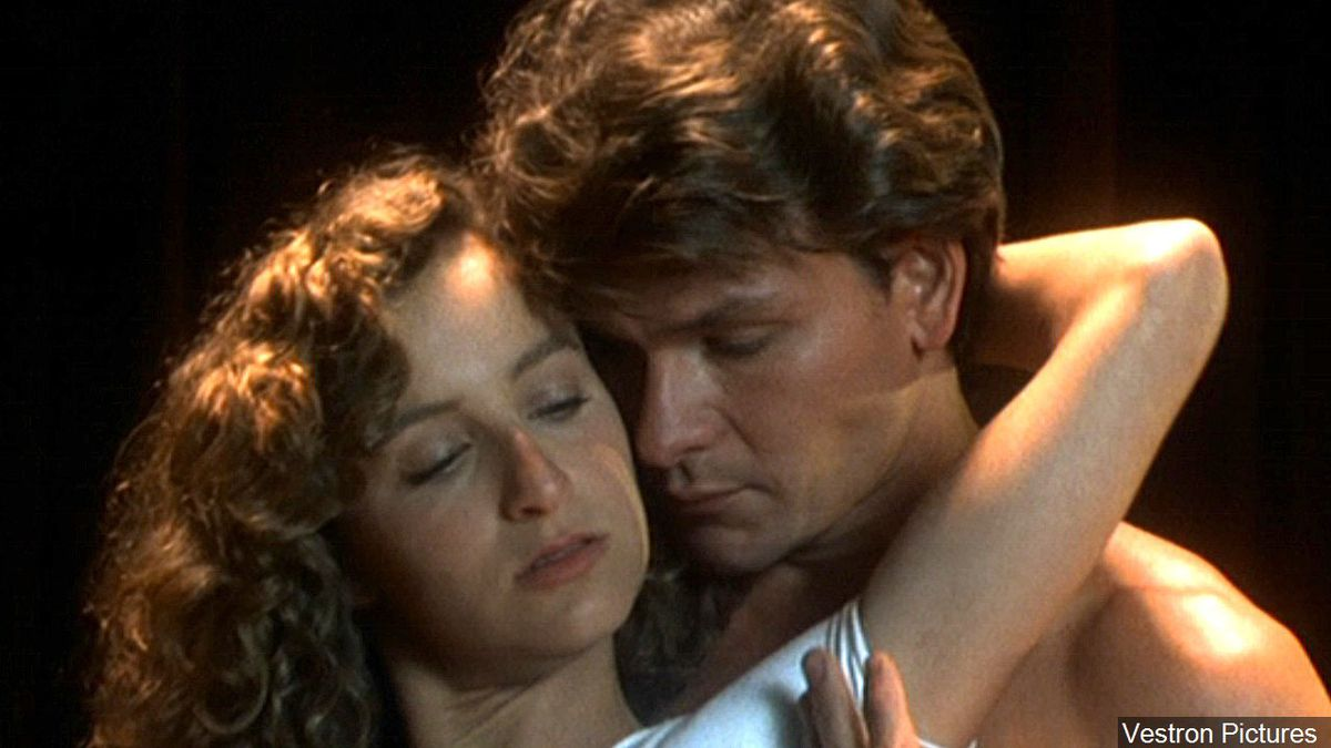 Patrick Swayze and Jennifer Grey in the 1987 movie, 'Dirty Dancing'