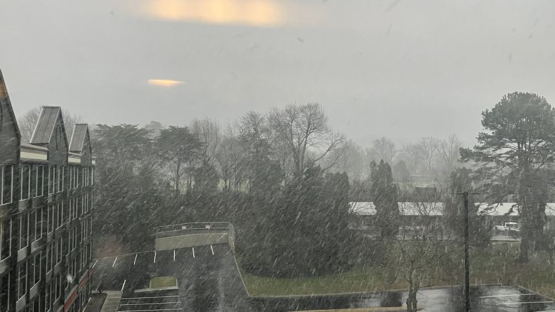 Snow started Thursday afternoon in Pigeon Forge.
