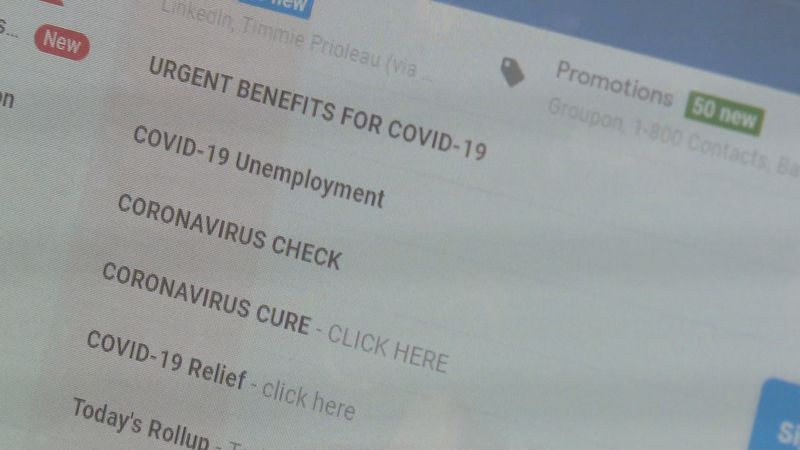 Hackers are increasing their email scams during the coronavirus outbreak.