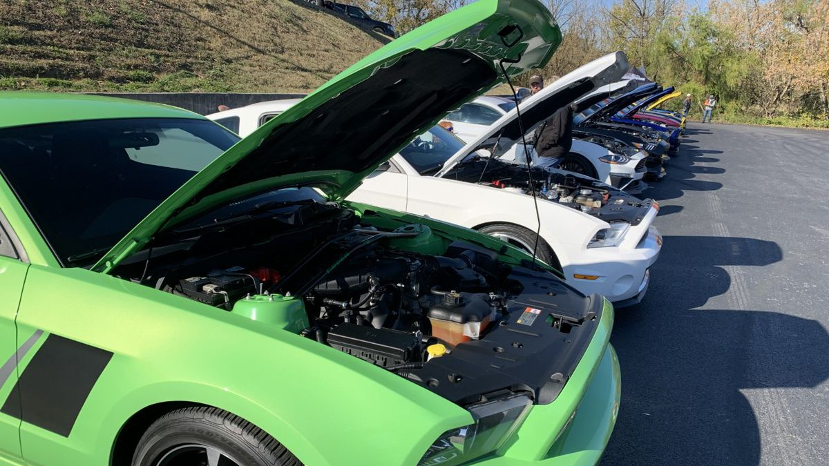 A mustang car club hosted an event in Sevierville Saturday to raise money for Second Harvest Food Bank. (Source: Kyle Grainger, WVLT)
