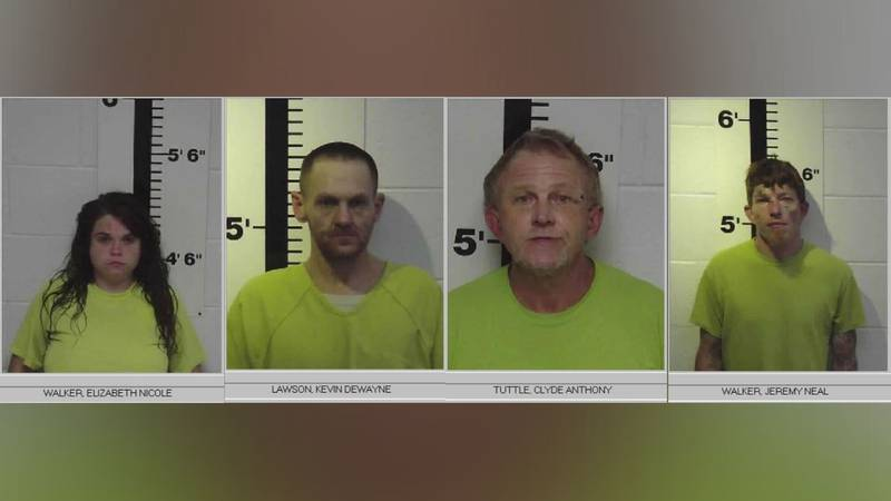 Elizabeth Walker (28), Kevin Lawson (37), Jeremy Walker (34) and Clyde Tuttle (54) were all...