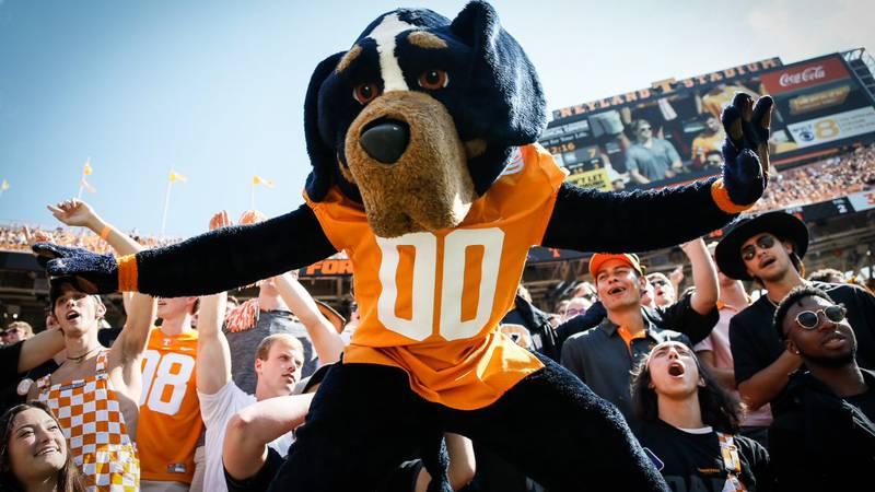 Tennessee Mascot at Neyland Stadium