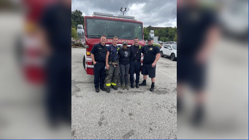 Monday firefighters from the Knoxville Fire Department saved a woman's life who was swept away...