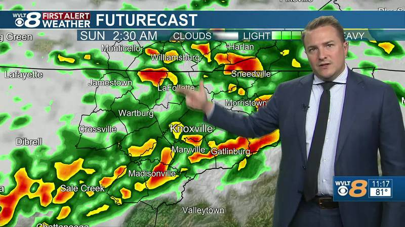 Stronger storms early Sunday morning: Ben's forecast