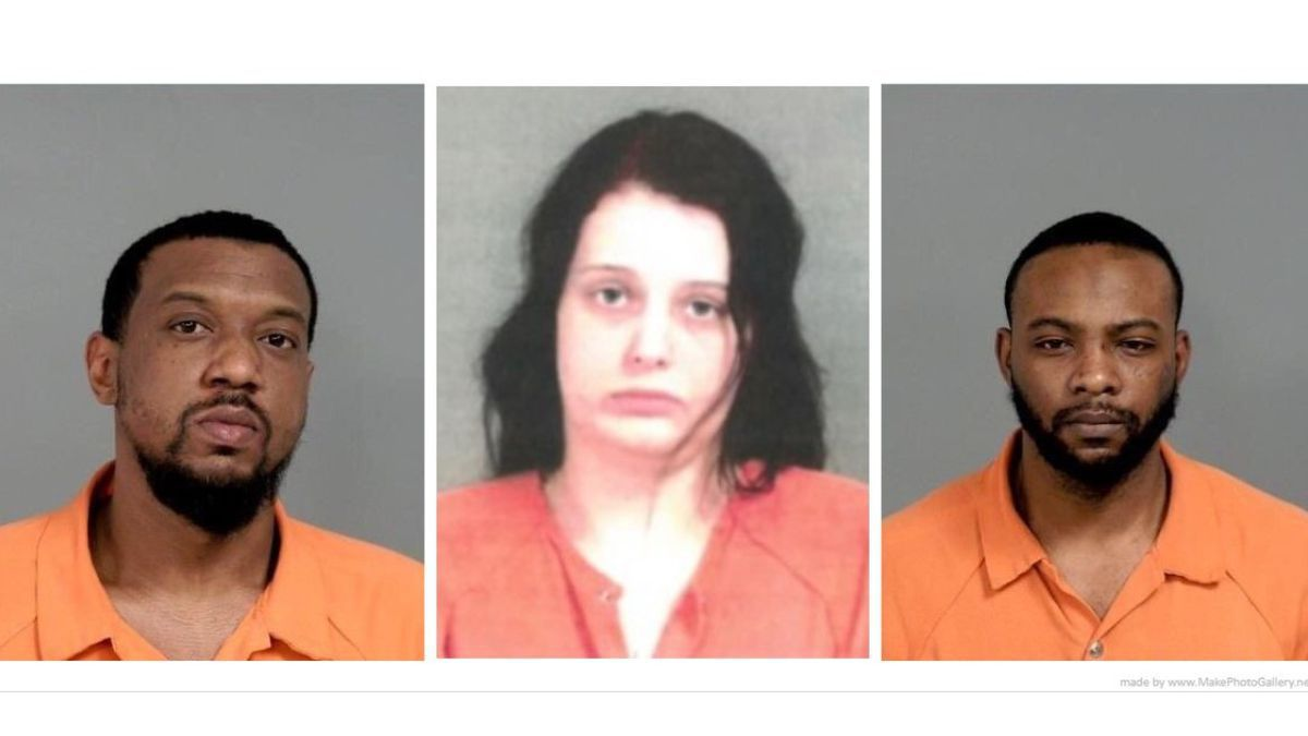 From left, Trevyon Harris, Maranda Ide and Beinville Alexander III are accused in the death of...