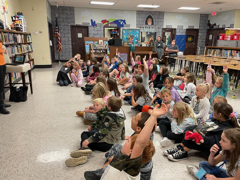 Lots of great questions from these second graders.