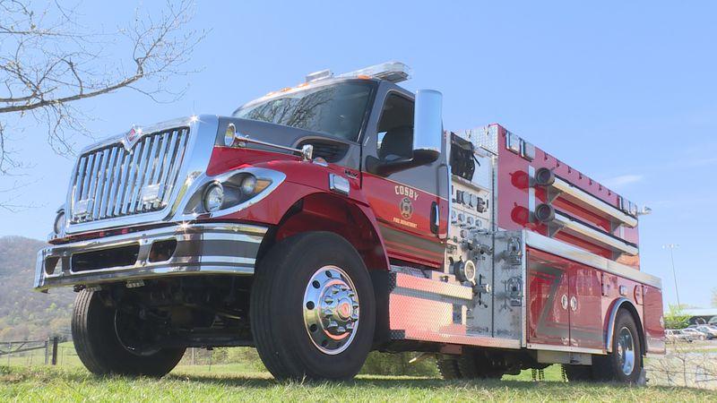 Cosby Volunteer Fire Department's newest fire truck