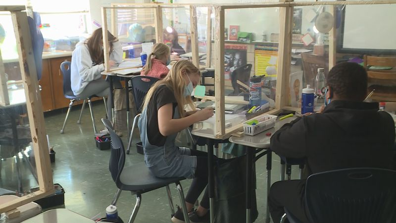 Knox County Schools students work in the classroom