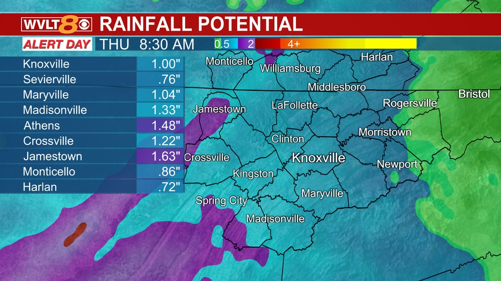 Heavy rainfall potential Wednesday to early Thanksgiving Day.