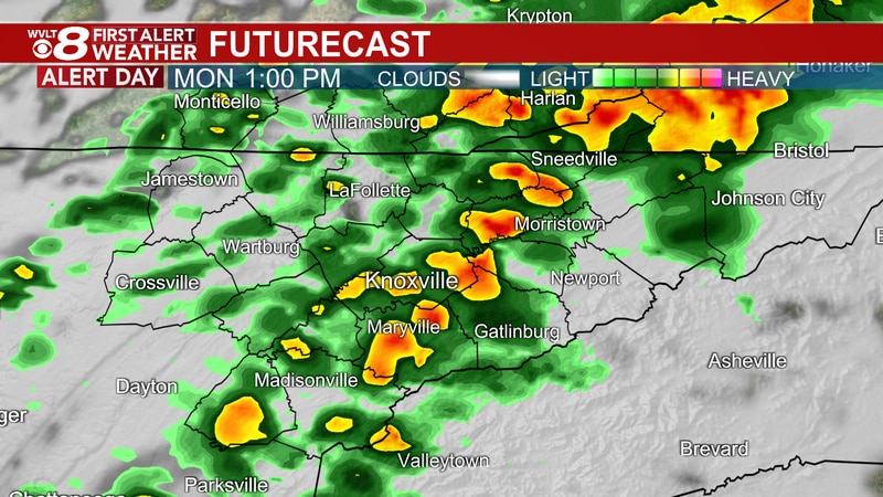 Cold front brings storms Monday