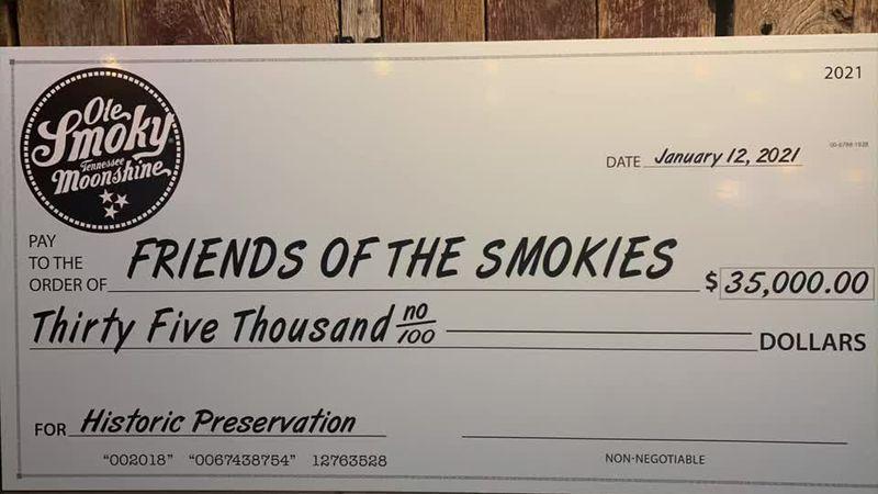 Ole Smoky Distillery donates $35K to 'Friends of the Smokies'