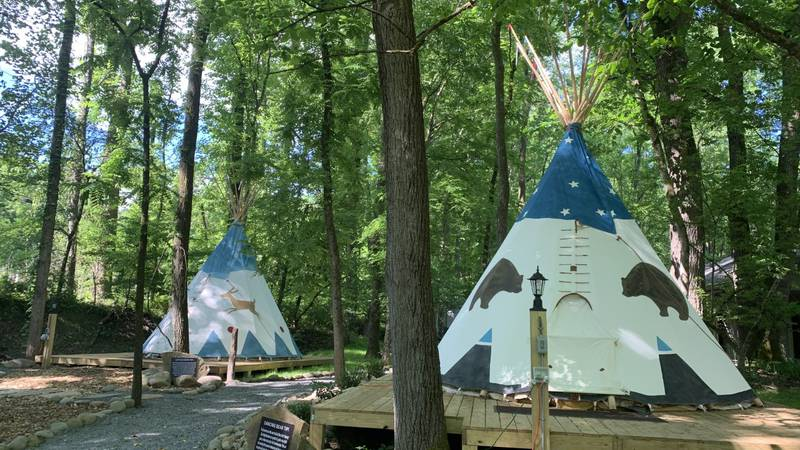 Tipi camping now available in Gatlinburg