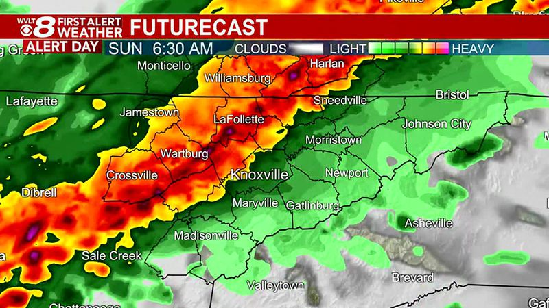 More storms moving through at times with an on-going First Alert through Sunday morning.