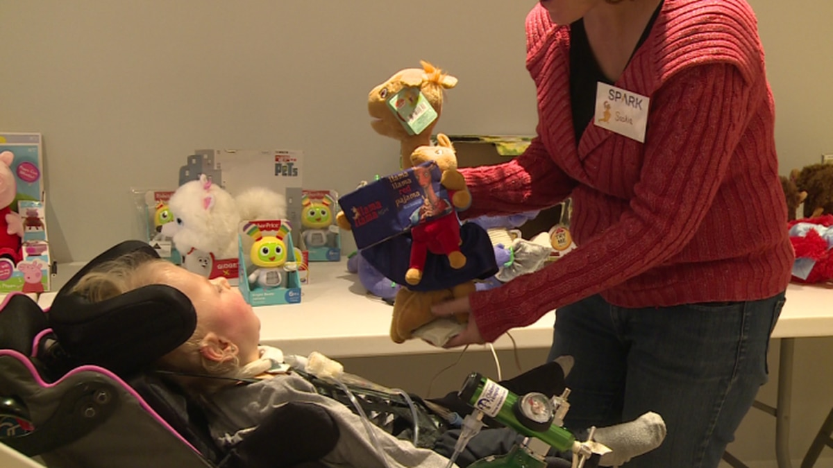 Spark specially designed toys for kids with disabilities to take home from the holiday party. / Source: WVLT News