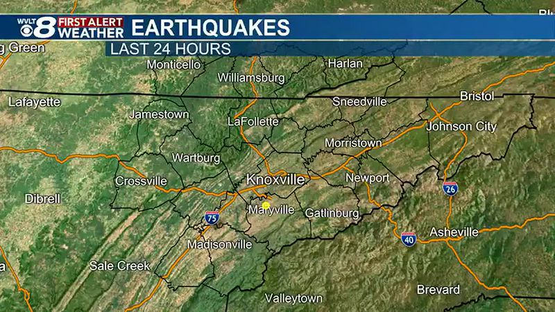 USGS confirms 2.2 magnitude earthquake in Blount County